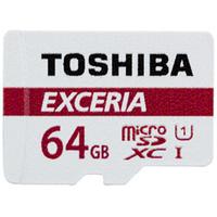 Toshiba EXCERIA M301-EC 64GB MicroSDXC UHS-I Class 10 Speicherkarte (Rot, Weiß)