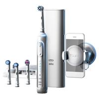 Oral-B Genius 9000S Rotierende-vibrierende Zahnbürste Weiß (Weiß)