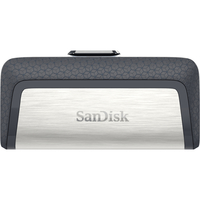 Sandisk Ultra Dual Drive USB Type-C 64 GB 64GB USB 3.0 (3.1 Gen 1) Type-A/Type-C Schwarz, Silber USB-Stick (Schwarz, Silber)