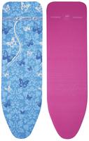 LEIFHEIT 71608 Ironing board padded top cover Blau Bügelbrettbezug (Blau, Pink)