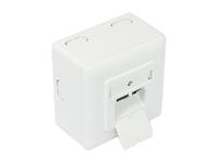 Alcasa GC-N0022 RJ-45 Telefon-/Antennen-/Steckdose (Weiß)