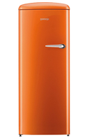 Gorenje ORB153O-L Freistehend 254l Orange Kühlschrank mit Gefrierfach (Orange)