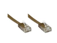 Alcasa Cat6 U/UTP 0.5m 0.5m Cat6 U/UTP (UTP) Braun (Braun)