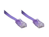 Alcasa Cat6 10m 10m Cat6 U/UTP (UTP) Violett (Violett)