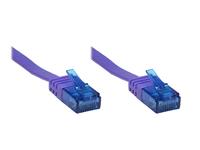 Alcasa RJ45/RJ45, 3 m 3m Cat6a U/UTP (UTP) Violett (Violett)