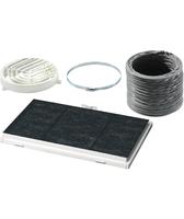 Siemens LZ45450 Cooker hood recycling kit Bauteil & Zubehör für Dunstabzugshauben (Schwarz, Grau, Weiß)