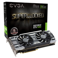 EVGA 08G-P4-6183-KR NVIDIA GeForce GTX 1080 8GB Grafikkarte