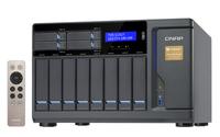 QNAP TVS-1282T NAS Turm Eingebauter Ethernet-Anschluss Schwarz (Schwarz)