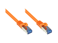 Alcasa Cat6a 0.5m 0.5m Cat6a S/FTP (S-STP) Orange (Orange)