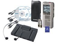 Olympus DS-2500 + AS-2400 Flash card Silber Diktiergerät (Silber)