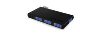 ICY BOX IB-Hub1401 USB 3.0 (3.1 Gen 1) Micro-B 5000Mbit/s Schwarz (Schwarz)