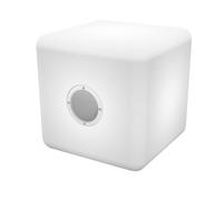Bigben Interactive BTCBLIGHTS Stereo 10W Kubus Weiß Tragbarer Lautsprecher (Weiß)
