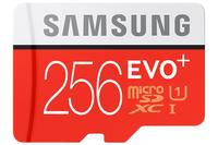 Samsung EVO+ MB-MC256D 256GB MicroSDXC Class 10 Speicherkarte (Rot, Weiß)