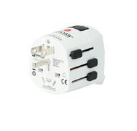 Skross Pro Light Universal Universal Schwarz, Weiß Netzstecker-Adapter (Schwarz, Weiß)