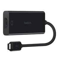 Belkin F2CU038BTBLK USB type C HDMI Schwarz Kabelschnittstellen-/adapter (Schwarz)