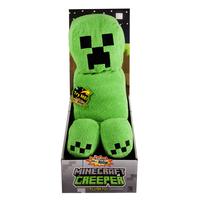 Minecraft Creeper Plush With Sound Plüsch Schwarz, Grün (Schwarz, Grün)