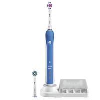 Oral-B PRO 4000 Rotierende-vibrierende Zahnbürste Blau, Weiß (Blau, Weiß)