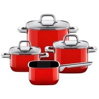 Silit Quadro Red Topf-Set (Rot)