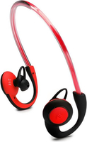 Boompods Sportpods Vision Nackenband Binaural Bluetooth Rot Mobiles Headset (Rot)