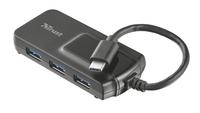 Trust Oila USB 3.0 (3.1 Gen 1) Type-C 5000Mbit/s Schwarz Schnittstellenhub (Schwarz)