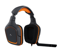 Logitech G231 Prodigy Binaural Kopfband Schwarz Headset (Schwarz, Orange)