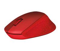 Logitech M330 Silent Plus RF Wireless Optisch 1000DPI Rot rechts (Rot)