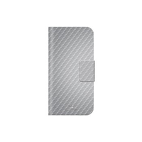 Hama Flex-Carbon 4.6Zoll Mobile phone wallet Silber (Silber)