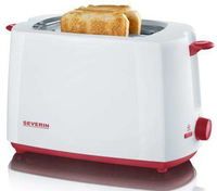 Severin AT 9940 Toaster (Rot, Weiß)
