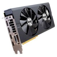 Sapphire 11260-07-20G AMD Radeon RX 480 8GB Grafikkarte (Schwarz)