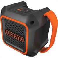 Black & Decker BDCSP18N Tragbarer Stereo-Lautsprecher Schwarz, Rot (Schwarz, Rot)