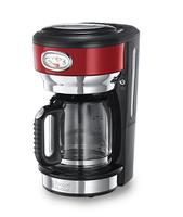 Russell Hobbs 21700-56 Freistehend Manuell Filterkaffeemaschine 1.25l 10Tassen Schwarz, Rot, Edelstahl Kaffeemaschine (Schwarz, Rot, Edelstahl)