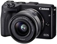 Canon EOS M3 + EF-M 15-45mm 24.2MP CMOS 6000 x 4000Pixel Schwarz (Schwarz)