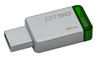 Kingston Technology DataTraveler 50 16GB 16GB USB 3.0 (3.1 Gen 1) Type-A Grün, Silber USB-Stick (Grün, Silber)