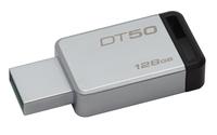 Kingston Technology DataTraveler 50 128GB 128GB USB 3.0 (3.1 Gen 1) Type-A Schwarz, Silber USB-Stick (Schwarz, Silber)