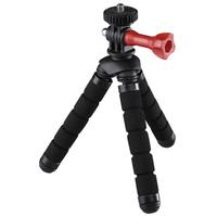 Hama Flex 2in1 Digitale Film/Kameras Schwarz, Rot Stativ (Schwarz, Rot)