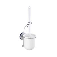 WENKO 20898100 WC-Bürste & Halter Toilettenbürste und -halter (Chrom, Weiß)