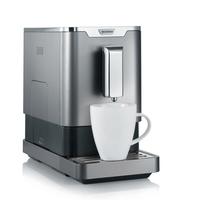 Severin KV 8090 Freistehend Vollautomatisch Pad-Kaffeemaschine 1.1l Grau, Metallisch Kaffeemaschine (Grau, Metallisch)