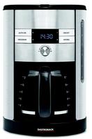 Gastroback 42704 Filterkaffeemaschine 1.7l 12Tassen Schwarz, Edelstahl Kaffeemaschine (Schwarz, Edelstahl)