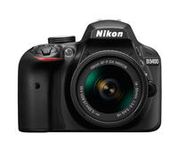Nikon D3400 + AF-P DX 18-55 mm 1:3.5-5.6G VR 24.2MP CMOS 6000 x 4000Pixel Schwarz (Schwarz)