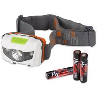 HyCell 1600-0077 Stirnband-Taschenlampe LED Schwarz Taschenlampe (Schwarz)