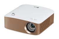 LG PH150G 130ANSI Lumen LCOS 720p (1280x720) Portable projector Weiß Beamer (Gold, Weiß)