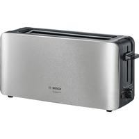 Bosch TAT6A803 1090W Schwarz, Edelstahl Toaster (Schwarz, Edelstahl)