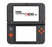 Nintendo New 3DS XL (Schwarz, Orange)