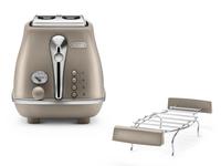 DeLonghi CTOE 2103.BG 900W Beige Toaster (Beige)