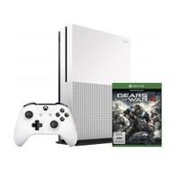 Microsoft Xbox One S + Gears of War 4 (Weiß)