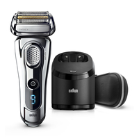 Braun Series 9 9296cc Wet&Dry Folienschaber Trimmer Chrom Herrenrasierapparat (Chrom)
