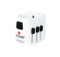 Skross PRO Light USB Universal Universal Schwarz, Weiß Netzstecker-Adapter (Schwarz, Weiß)