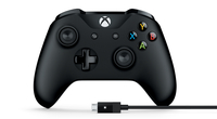 Microsoft 4N6-00002 Gamepad PC,Xbox One Schwarz Spiele-Controller (Schwarz)