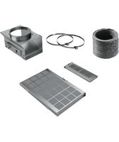 Siemens LZ10AKS00 Cooker hood recycling kit Bauteil & Zubehör für Dunstabzugshauben (Schwarz, Grau)