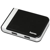 Hama 00054546 USB 3.0 (3.1 Gen 1) Type-A/Type-C Schwarz, Silber Kartenleser (Schwarz, Silber)